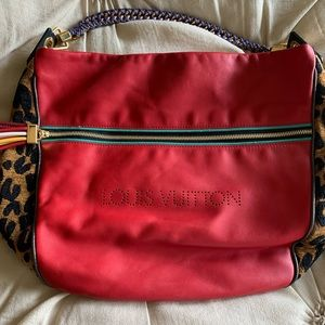 Limited edition Louis Vuitton red leather leopard